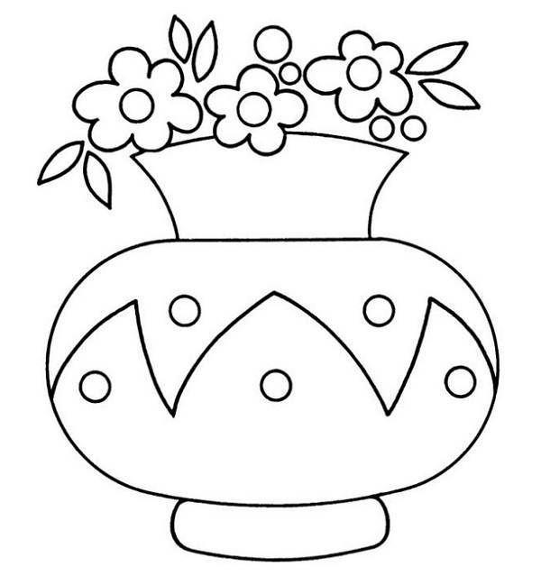 pages flower vases flower colors pages flower coloring pages clips - Coloring Pages Roses A Vase
