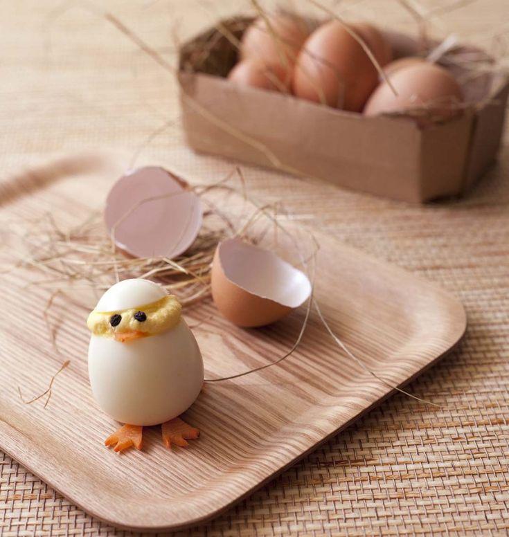 Petits poussins de Pâques en oeufs durs - Ôdélices : Recettes de cuisine faciles et originales !