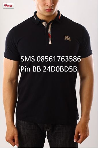 [Big Size] POLO SHIRT BURBERRY PREMIUM Kode  PSP BURBERRY 16 Size XXL only @230RB