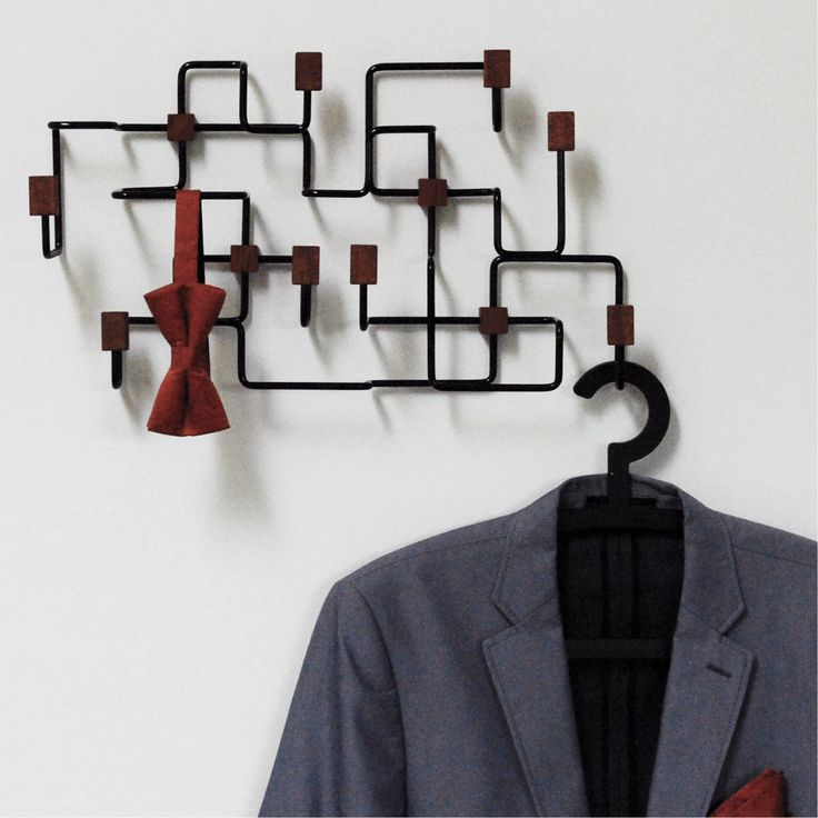The Underground coat rack from Gejst is not only practical, it is also a work of art. The Underground Coat Rack is inspired by a map of the complex network of tunnels and stations composing the London Underground train system. Available in black and white.