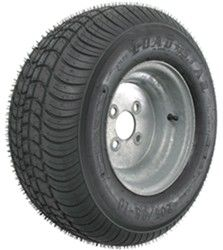 "Kenda 205/65-10 Bias Trailer Tire with 10"" Galvanized Wheel - 4 on 4 - Load…"