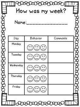 Elementary Behavior Log / Classroom Mangagement