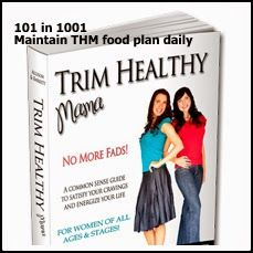 Health: Maintain THM food plan daily #101in1001
