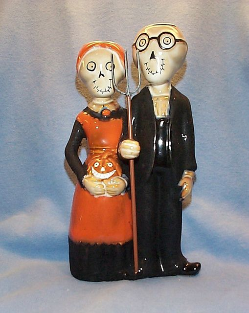 "boney bunch 2009 collection | Boney Bunch 2009 Gothic Farmers ""Boney & Clyde"" Candle Holders ..."