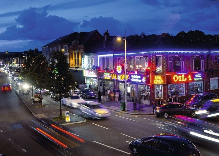 The Curry Mile, Rusholme, Manchester.
