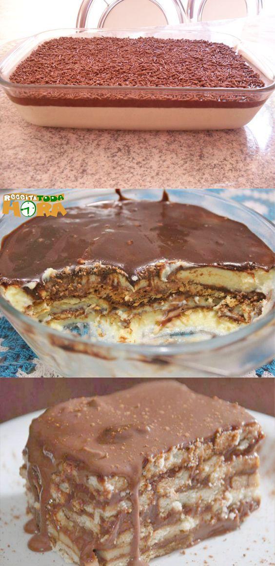 Pavê de Chocolate Cremoso  PavêdeChocolateCremoso  PavêdeChocolate  Pavê   Receitatodahora 229ad8fbcc6
