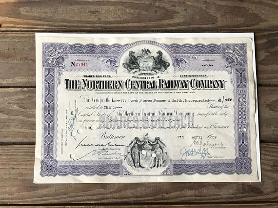 7 best Other Vintage Items images on Pinterest Vintage items - company share certificates