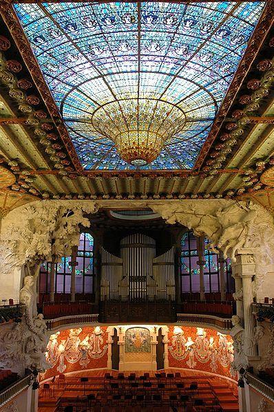 Palau de la Música Catalana, Barcelona, Spain <3