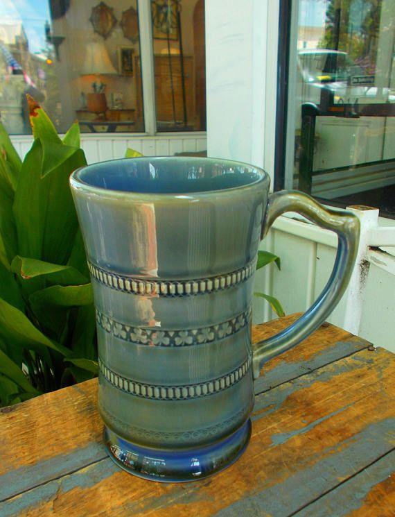 WADE SHAMROCK Harp Handle IRISH Porcelain  Mug Tankard Stein 6