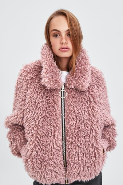 3931a6f0 FAUX SHEARLING BOMBER from Zara | The Best of Zara | Bomber jacket, Jackets,  Zara