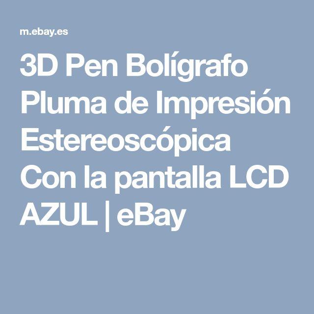 3D Pen Bolígrafo Pluma de Impresión Estereoscópica Con la pantalla LCD AZUL | eBay