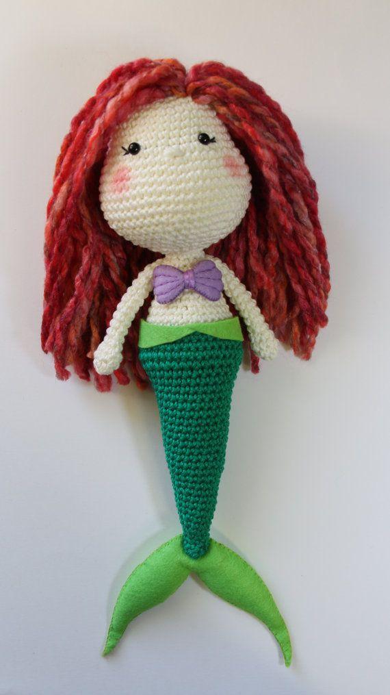Amigurumi Crochet Mermaid : LITTLE MERMAID Crochet Amigurumi Doll *Ready to Ship