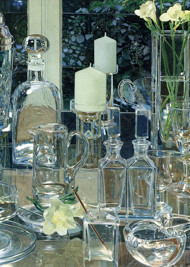 121 Best Images About Art Watercolor Glass On Pinterest