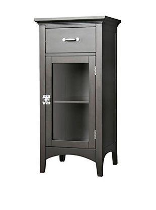 Elegant Home Fashions Madison Avenue Floor Cabinet With Door U0026 Drawer, Dark  Espresso