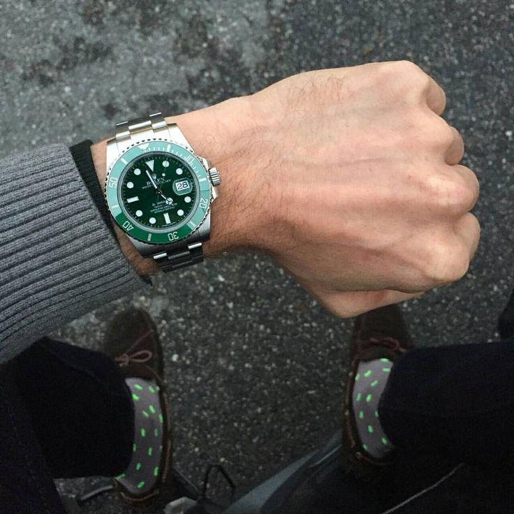 wristprn: Rolex Submariner Hulk | #WRISTPORN by @milanese | www.wristporn.com