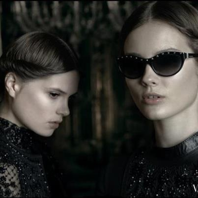 Valentino Sunglasses Collection   Discounted VAL 606 in black $215