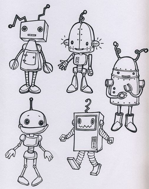 Roboter – #cartoon #Roboter