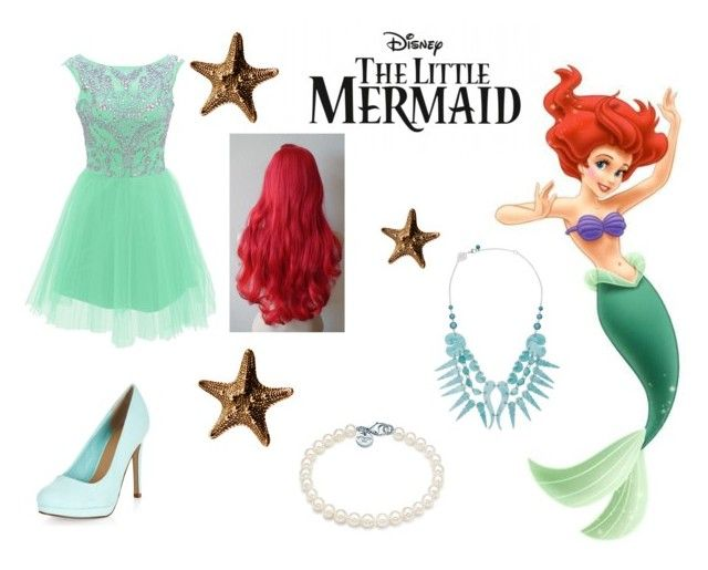 """""""the little mermaide dress"""" by danigrace2510 ❤ liked on Polyvore featuring Tiffany & Co., Tatty Devine and Justine Brooks"""