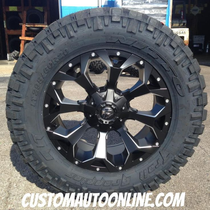 20x9 Fuel Assault D546 Black - LT295/60r20 Nitto Trail Grappler | Truck Rims & Tires packages ...