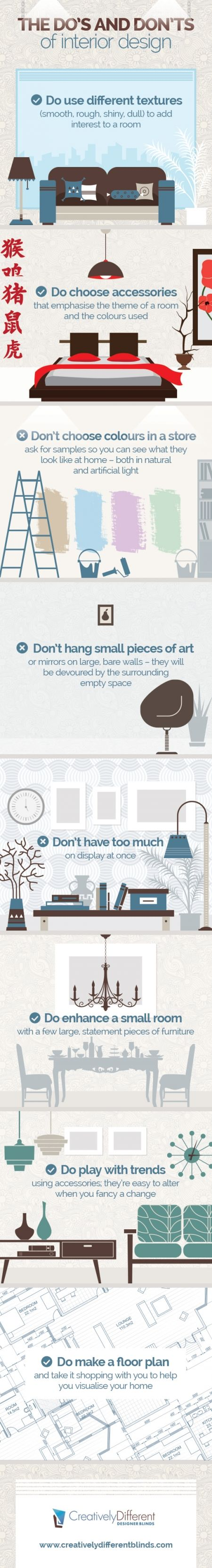 Take these tips and experiment with the latest trends (or even create your own), interesting textures and creative colour combinations until you find the style that suits you best. The secret to successful interior design is having fun with your creations, and embracing the things that make you and your home unique.