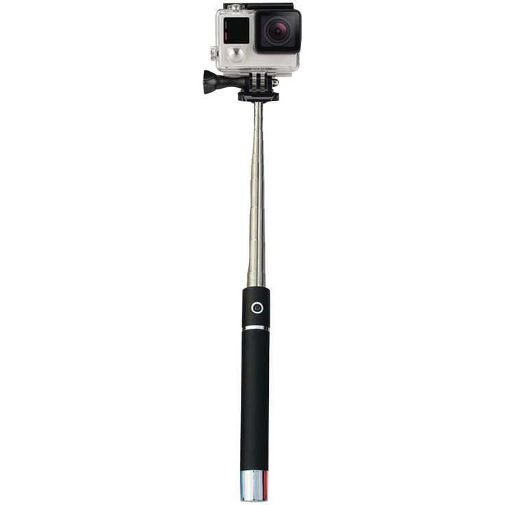 Supersonic Pocket-pro Selfie Action Stick With Bluetooth;& Rechargeable Battery (silver)