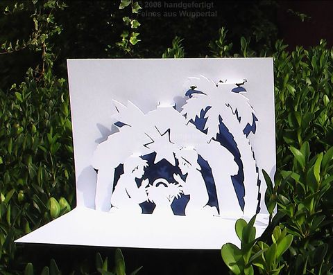 3D Map Nativity Faltschnittkarte Christmas Card Gift