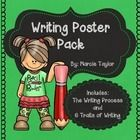 Adorable set of writing posters.  Posters outline both the writing process and the 6 traits of writing.