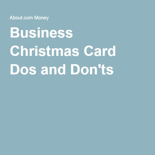 Business Christmas Card Dos and Don'ts