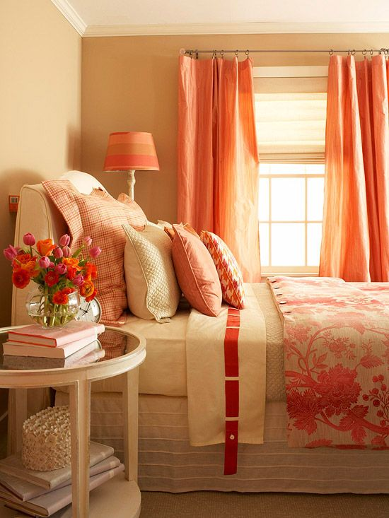Tangerine Living Room Decor: A Delightful Medley Of Pink And Tangerine Hues Paints A