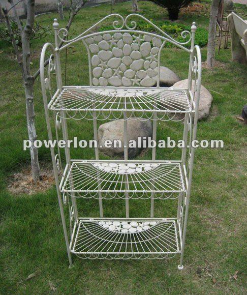Estante de ferro para plantas id ias para o jardim - Estantes para plantas ...