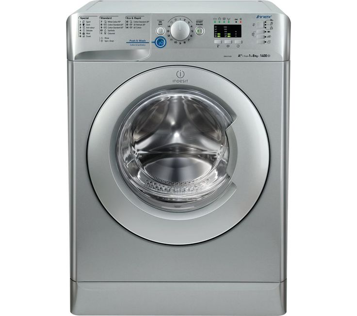 INDESIT XWA 81482X S UK Washing Machine - Silver