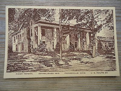 Vintage-Postcard-The-Rider-Randell-Tavern-Painesville-OH-Lake-County-Ohio