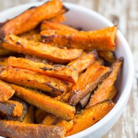 Baked Garlic Butter Sweet Potato Fries [Becomingness]