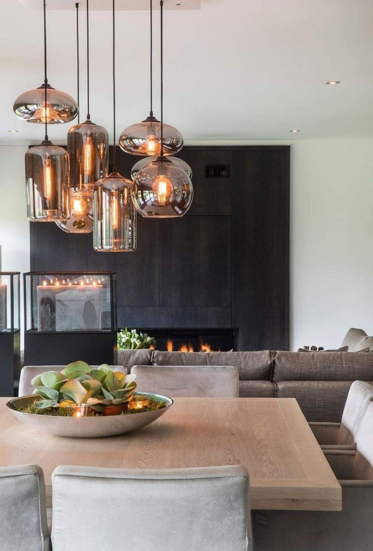 Beautiful Warm Scandinavian Style Living Room With Dinning Area And Beautifully Trendy Indusrial Dining Room Industrial Dining Room Lamps Dining Room Lighting