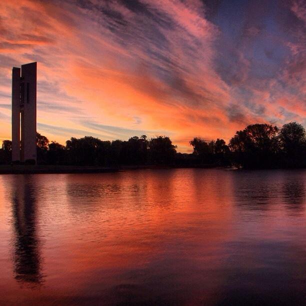 Sunset #Canberra #Australia    Photo by seeaustralia