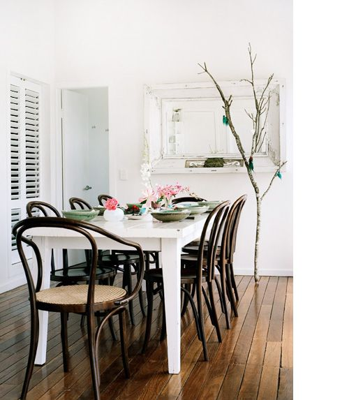 Shannon Fricke - Design Files  Looks like my table - love the dark bentwood chairs