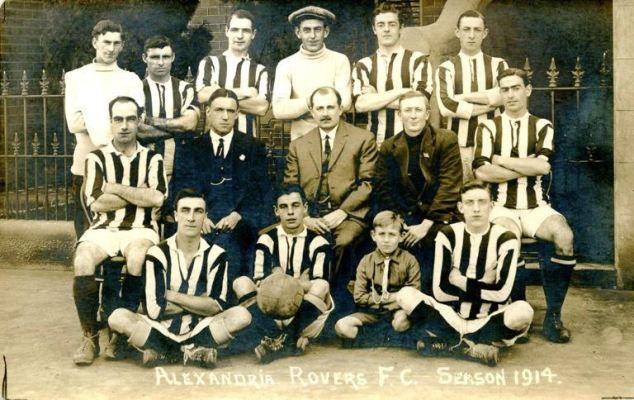 Alexandria Rovers Football Team. 1914