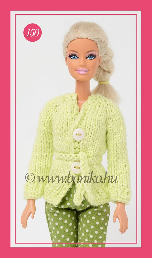 Almazöld kötött Barbie kardigán