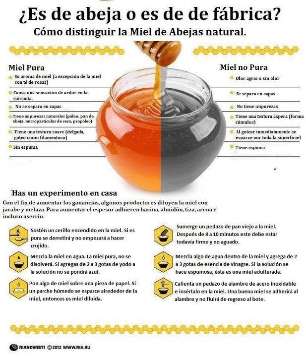 Como saber si es miel natural...