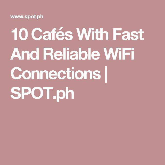 10 Cafés With Fast And Reliable WiFi Connections | SPOT.ph