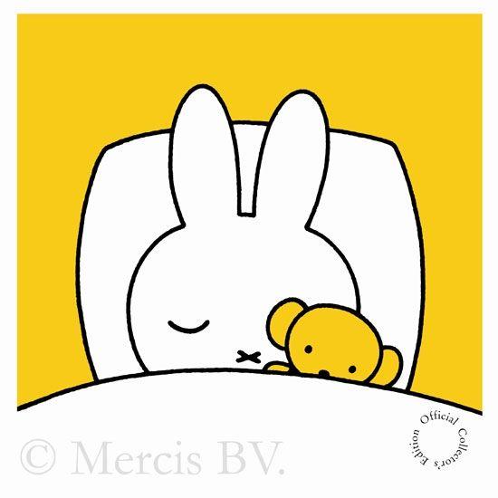 Nijntje slaapt met haar beertje (Miffy) www.cooleouders.wordpress.com