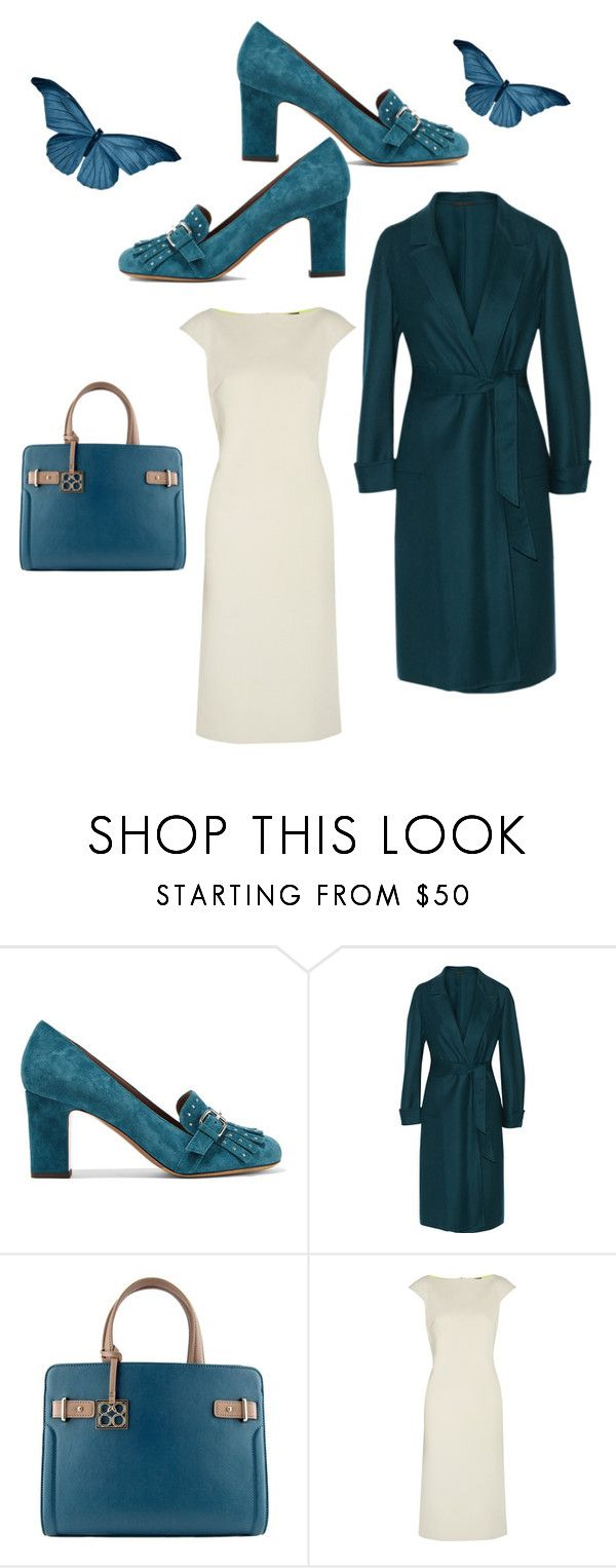 """The After Affects Of Teal"" by kimberlydalessandro ❤ liked on Polyvore featuring Tabitha Simmons, Agnona and Maria Grachvogel"