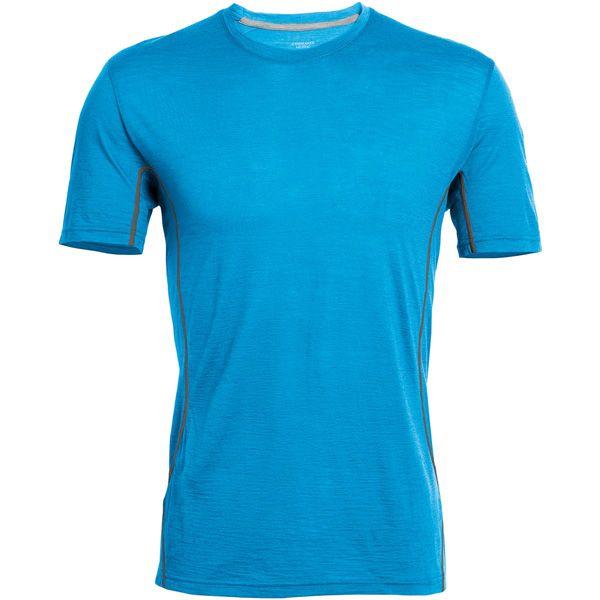 T-shirts AERO SS CREWE CYAN/METAL 2016 Icebreaker -59% op Ekosport
