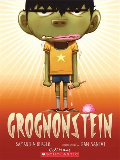 À première vue, on pourrait croire que c'est un garçon ordinairemais lorsqu'il fait trop froid à l'Halloween ou qu'il fait trop chaudpour des sucettes glacées, Grognonstein se manifeste et se metà grogner : AAAHGRRR! Ce n'est que lorsqu'il rencontre un autrespécimen de son espèce qu'il se met à rire, pour un instant, carméfiez-vous, Grognonstein tend à réapparaître assez rapidement...