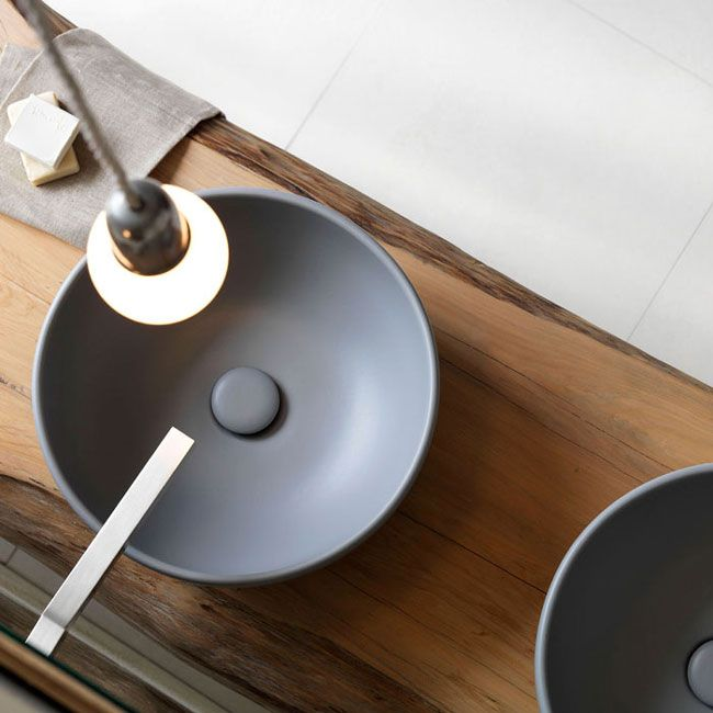 On top bowl Anthracite finish Shui - Basin colored bathroom Ceramica Cielo