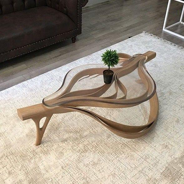 Art Furniture Epoxy Creative Side Tables Coffee Resin Wood
