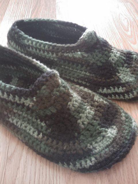 Crochet Men's Slippers - Tutorial