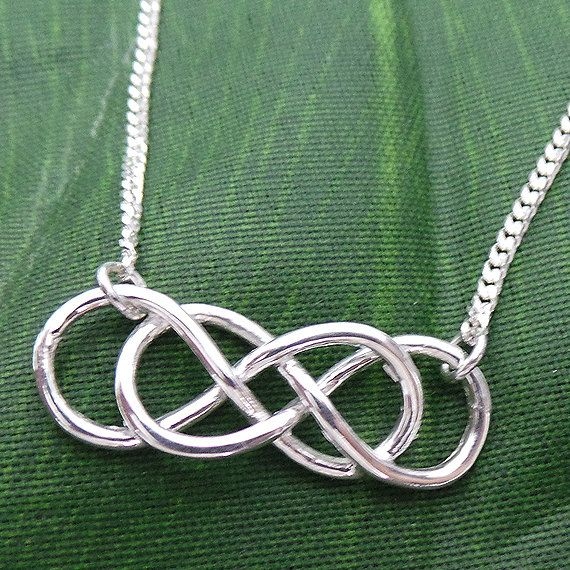 Revenge Double Infinity Times Infinity Silver Necklace by yhtanaff, $43.00