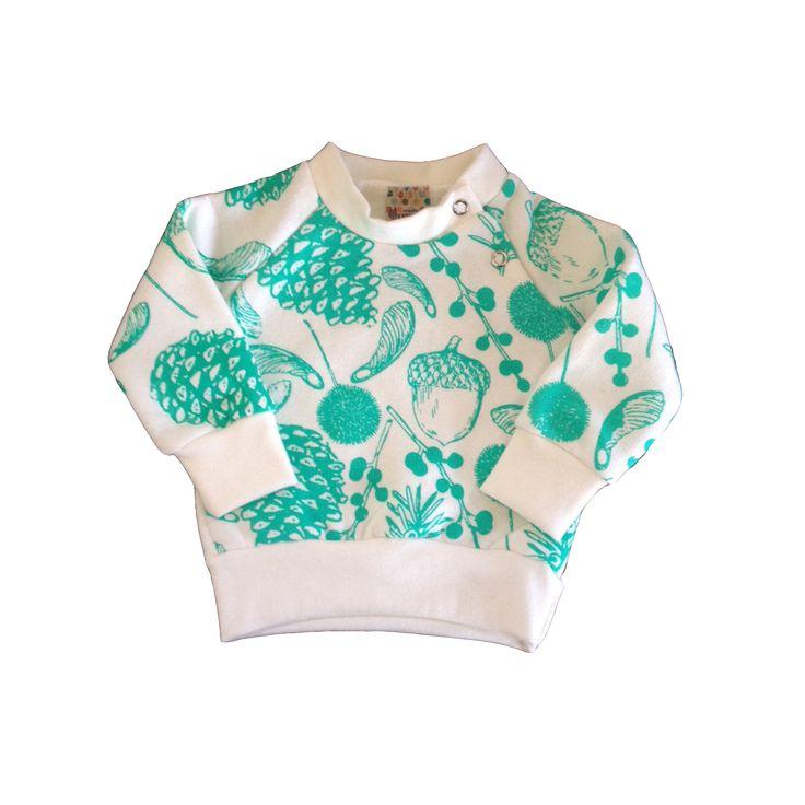 Buzito algodón/elastano estampado a mano semillas verde que te quiero verde!