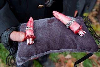 Cute idea for a zombie wedding theme